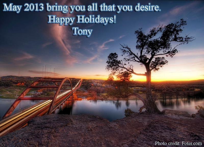 New Year's card from Tony Rockcliff